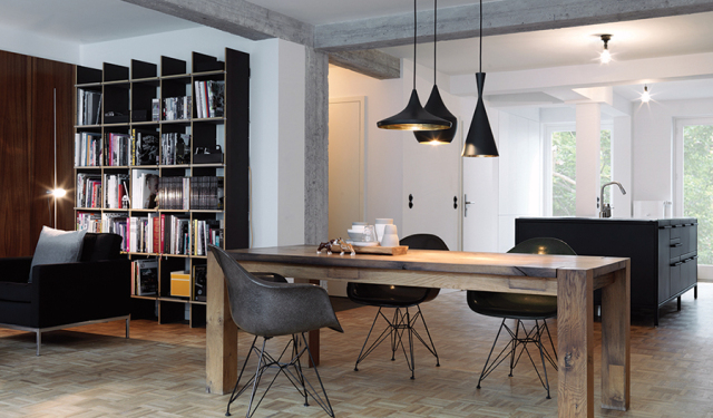 Industrial apartment with sixties vibe