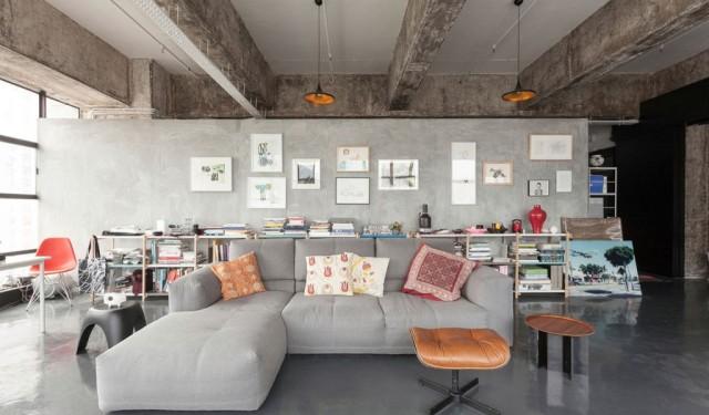Unique bachelor art loft