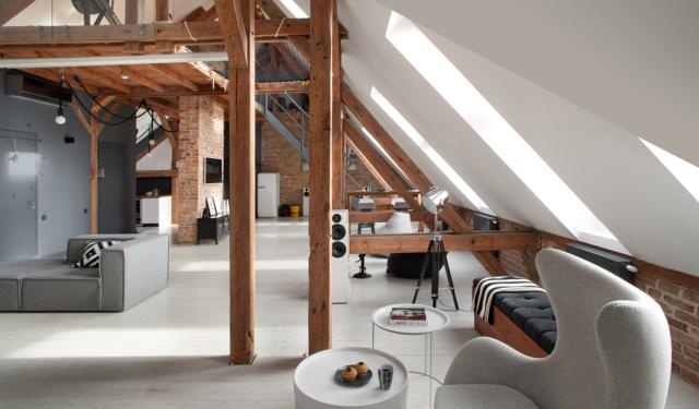 Industrieel 'New York' loft in voormalige schuur in Polen