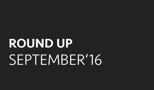 Round up: september