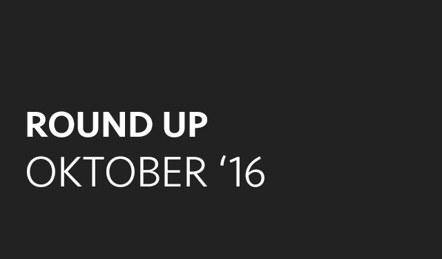 Round up: oktober