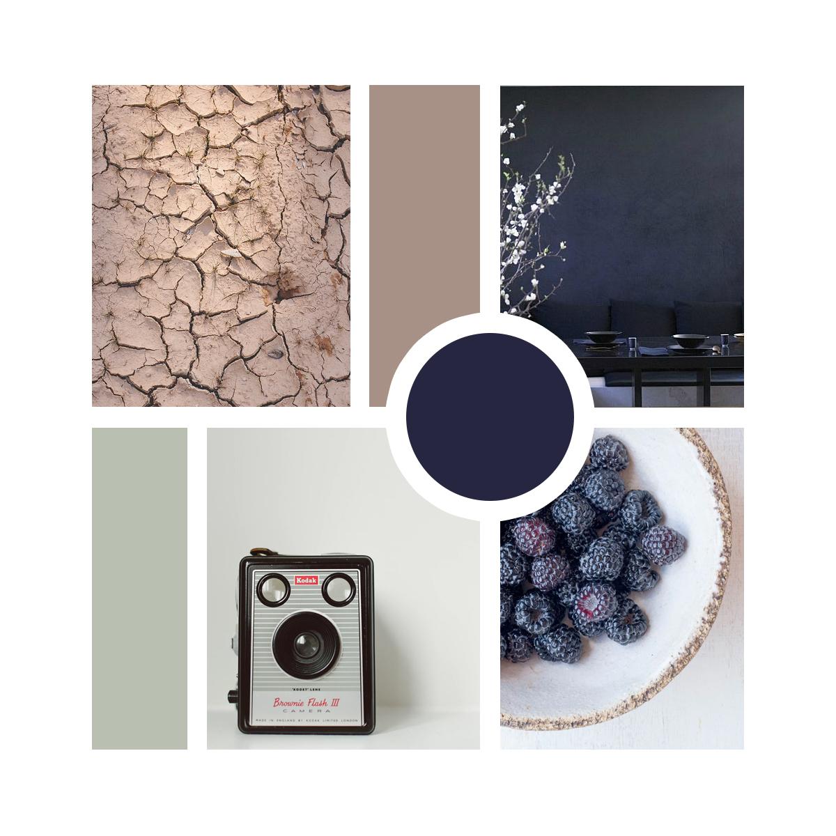 Moodboard — neutralen met een kobalt knal