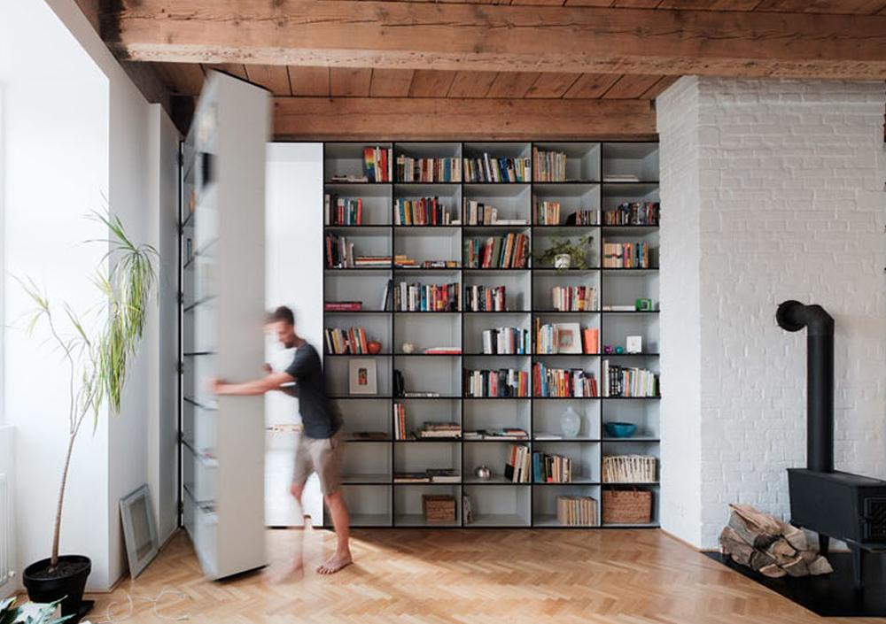 Geheime doorgangen en opbergruimtes voor thuis