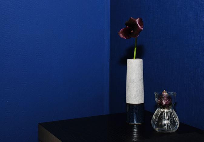 My brand new blue bedroom