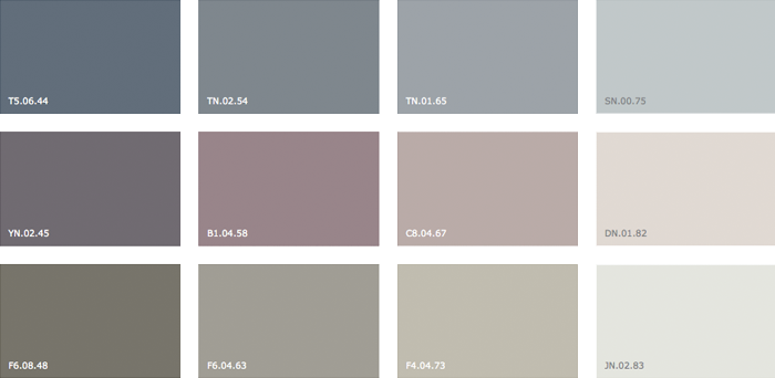 Colour of the year 2015 label1114 for Paleta de colores grises