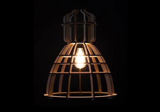 No.19 industrielamp van Olaf Weller voor Het Lichtlab
